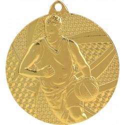 Medaille Basketball-Motiv / Gold