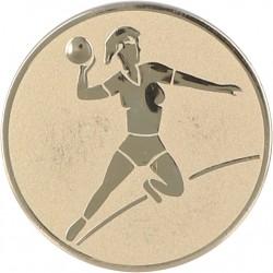 Aluminium Emblem/ Handball-Frauen