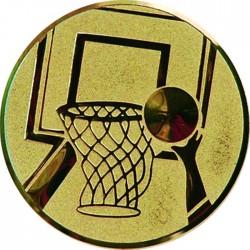 Aluminium Emblem/ Basketball/ Gold, Silber, Braun