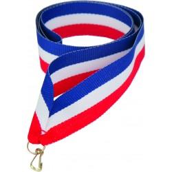 Medaillenband 11mm, 22mm / Blau, Weiß, Rot