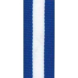 Medaillenband 11mm, 22mm / Blau, Weiß