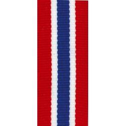 Medaillenband 11mm, 22mm / Rot, Weiß, Blau