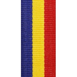 Medaillenband 11mm, 22mm / Rot, Gelb, Blau