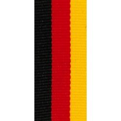 Medaillenband 11mm, 22mm / Schwarz, Rot, Gelb