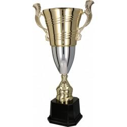 Pokal mit Deckel / Gold-Silber