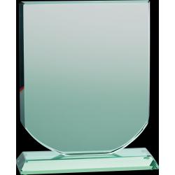 Glastrophäe mit Etui
