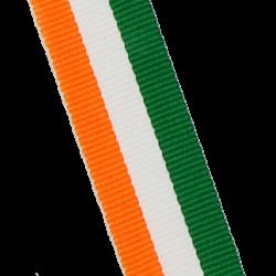 Medaillenbänder 11mm, 22mm / Grün, Weiß, Orange