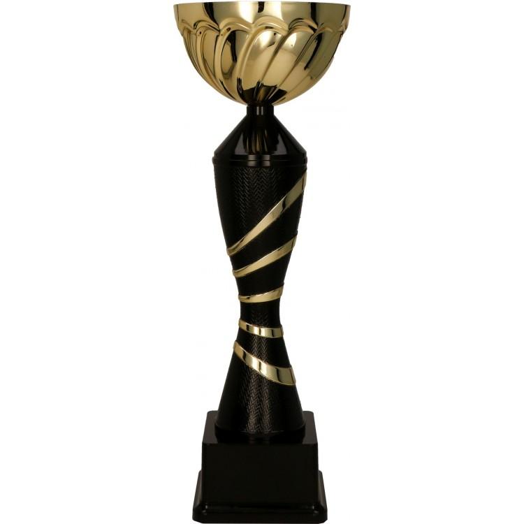 Metall-Pokal ohne Deckel / Gold-Schwarz