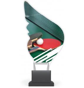 Acryl und Plexiglas Trophäe-Tischtennis