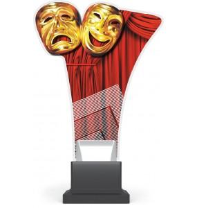 Acryl und Plexiglas Trophäe - Theater