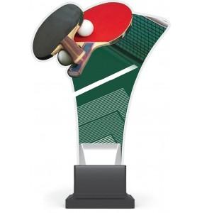 Acryl und Plexiglas Trophäe - Tischtennis