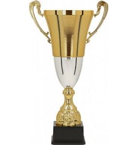 Pokal mit Deckel, ohne Deckel / Gold,Silber