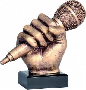 Resinfiguren - Musik, Mikrofon
