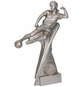 Resinfigur/ Fußbal l-  Frauen-Fußball