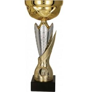 Pokal mit Deckel / Gold, Silber
