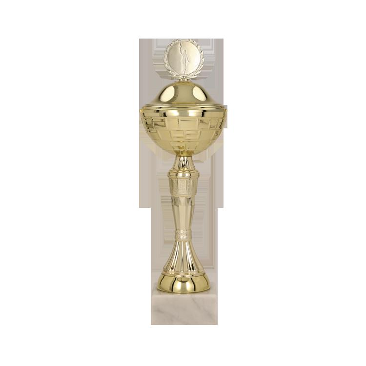 Pokal mit Deckel / Gold