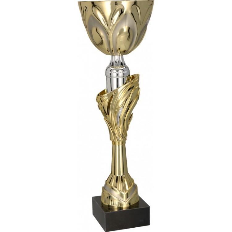 Pokal mit Deckel / Gold, Silber 4115