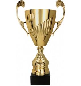 Pokal - Metall mit Deckel  / Gold 7098