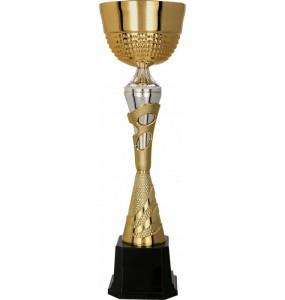 Pokal mit Deckel / Gold, Silber 3113