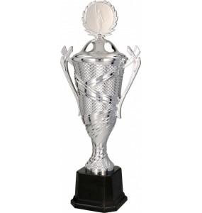 Pokal mit Deckel / Silber 7133