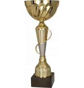 Pokal mit Deckel / Gold, Silber 8233