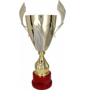 Pokal mit Deckel / Gold, Silber 3102