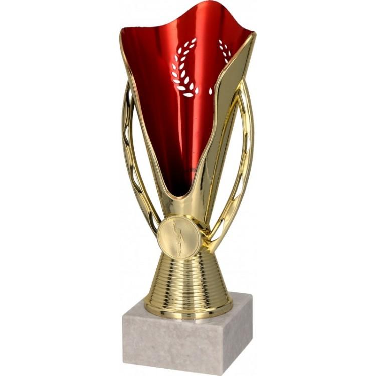 Pokal ohne Deckel / Gold, Rot 7164
