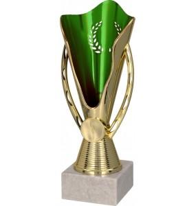 Pokal ohne Deckel / Gold, Grün 7165