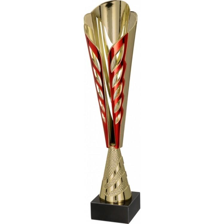 Pokal-Kunststoff / Gold, Rot 8248