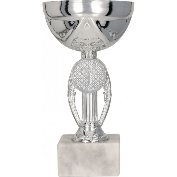 Pokal mit Deckel / Silber 9078