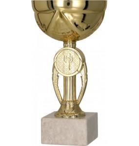 Pokal mit Deckel / Gold 9077