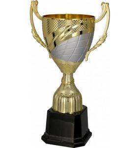 Pokal mit Deckel / Gold, Silber 4140