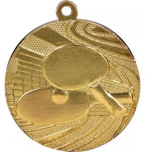 Medaillen, Tischtennis-Motiv-Gold