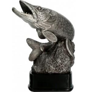 Resinfigur/ Angelsport-Hechtfisch